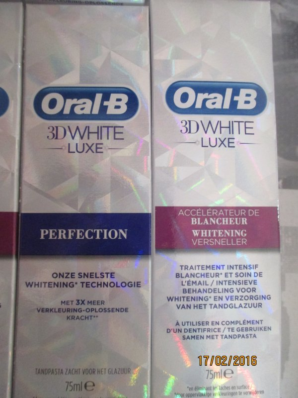 Oral-B 3D White Luxe avec envie de plus