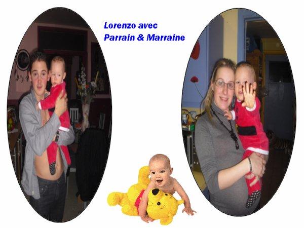 Lorenzo avec Parrain & Marraine