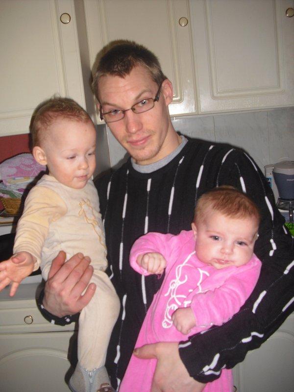 Elise avec son Parrain & Lorenzo