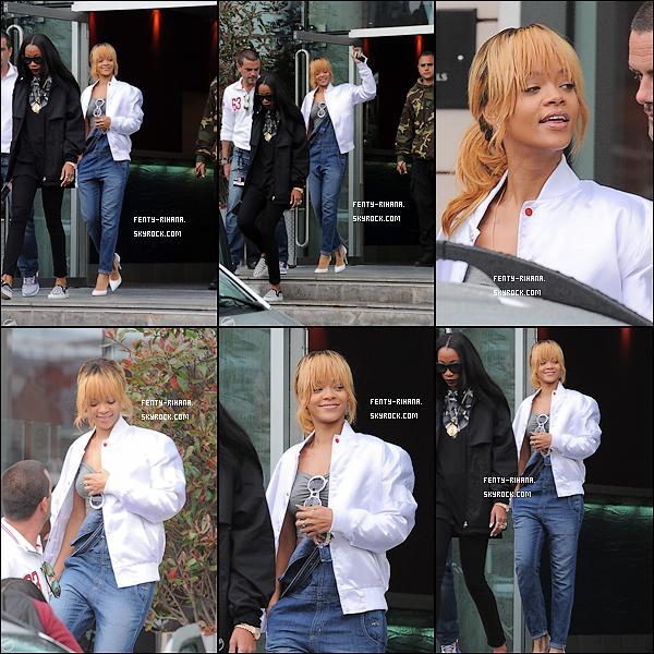12 Juin 2013 - Rihanna quitte son hôtel à Manchester.