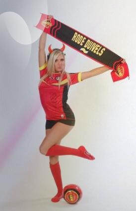 Miss Belgique 2013 pour les Diables rouges..