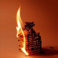 la maison en flamme