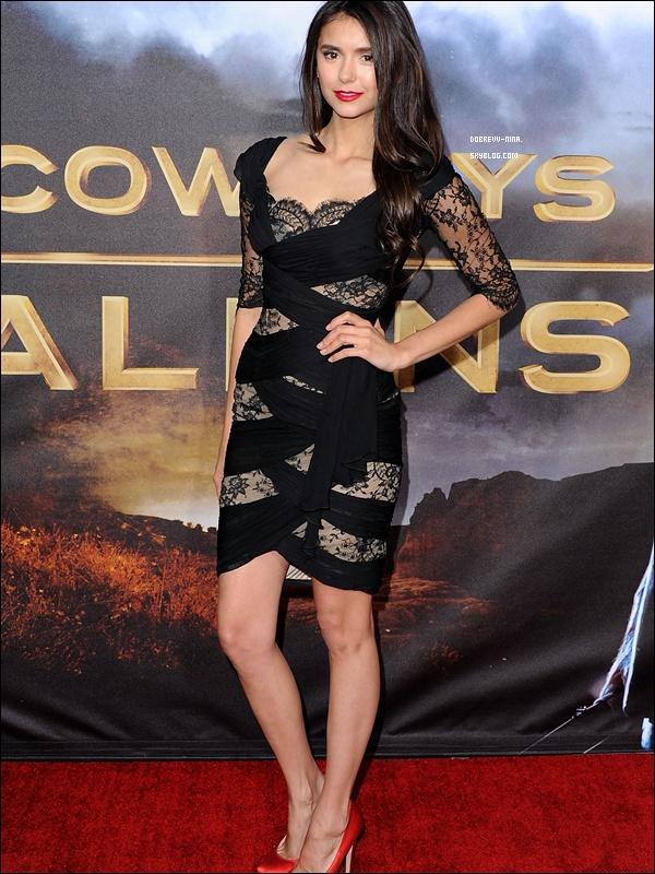 """*  SAMEDI 23 JUILLET: Nina plus souriante que jamais était à l'avant première du film """"Cowboys & Aliens """"  *"""