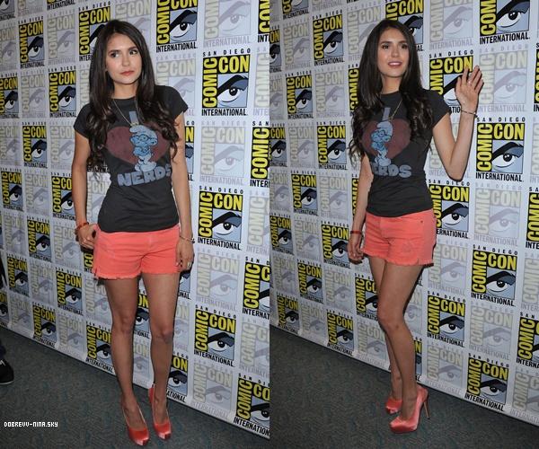 *  SAMEDI 23 JUILLET: Miss Dobrev était aussi à San Diego pour l'évènement Comic Con.    *