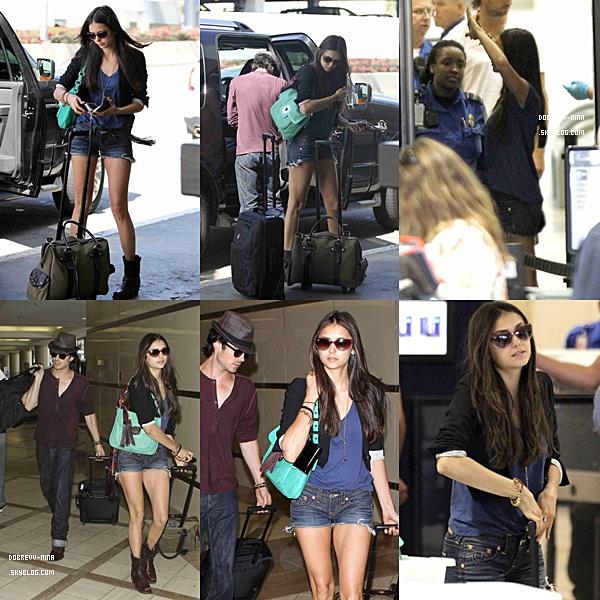 .  LUNDI 8 AOUT  : Les amoureux étaient à l'aéroport de Los Angeles pour s'envoler vers Atlenta..
