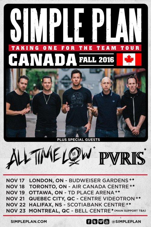 Simple Plan annonce une tournée au Canada