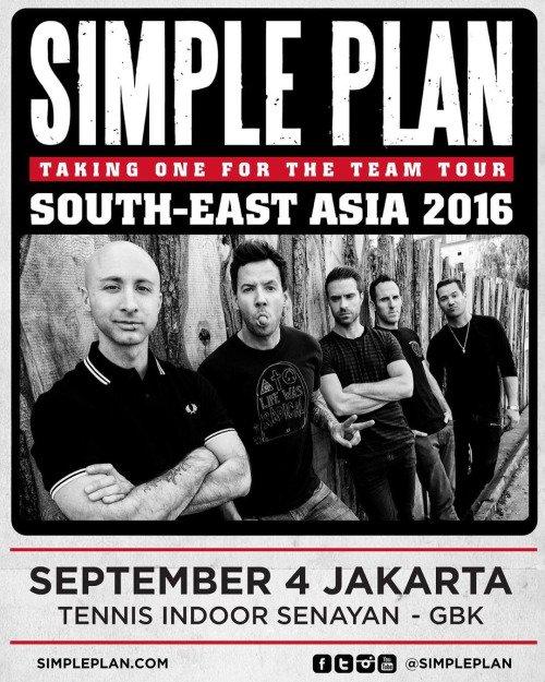 Confirmation du concert à Jakarta par Simple Plan