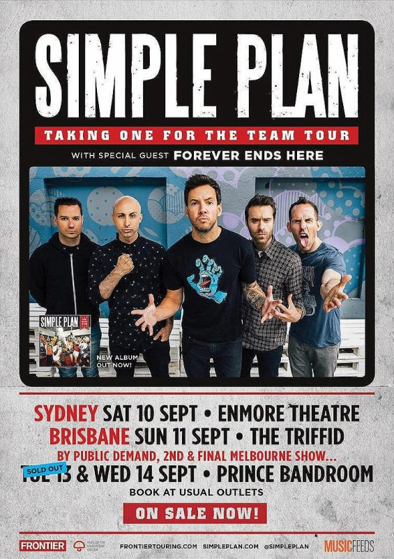 Simple Plan confirme son concert acoustique aux Etats-Unis