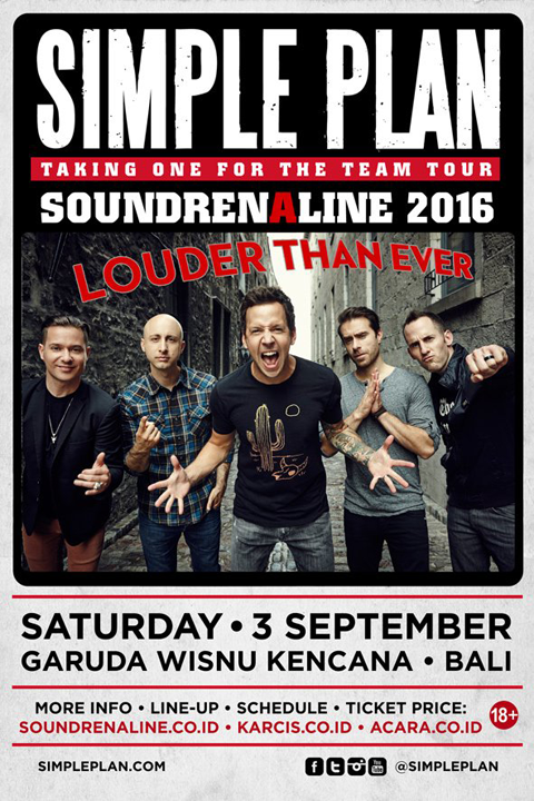 Simple Plan se produira à Bali au mois de septembre