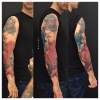 Jeff a terminé son nouveau tatouage