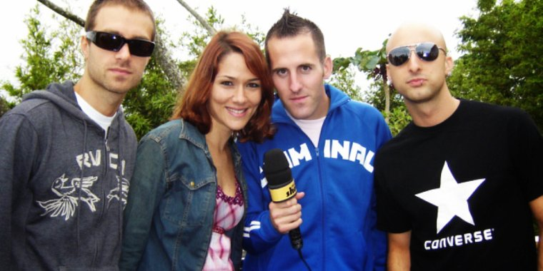 Nouvelle photo de Simple Plan au Brésil en 2005