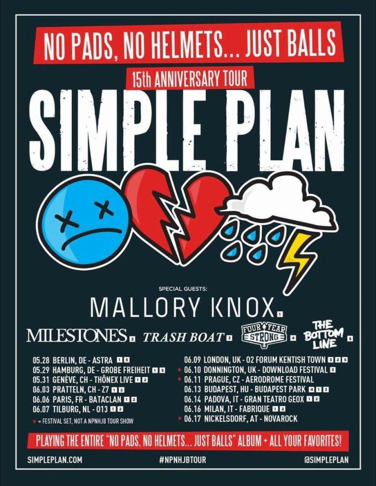 Simple Plan annonce les groupes qui feront leur première partie en Europe