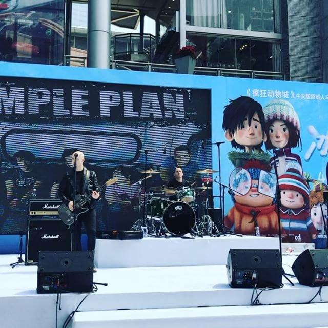 Premier jour de promo pour Simple Plan