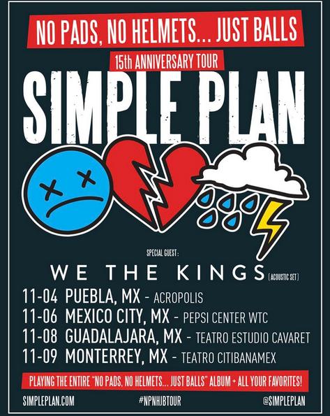 Tournée: Simple Plan confirme sa tournée au Mexique avec We The Kings