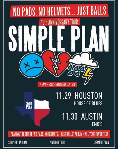 Dates: Simple Plan annonce de nouvelles dates pour Houston et Austin