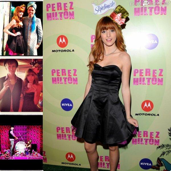 ♛.Bella à l'anniversaire de Perez Hilton, Bella & Zen' in Dubaï.
