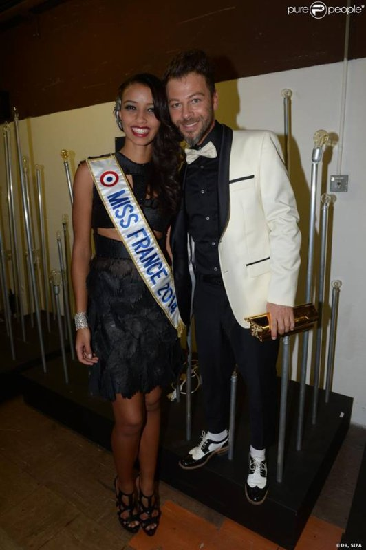 Christophe Maé avec Miss France 2014