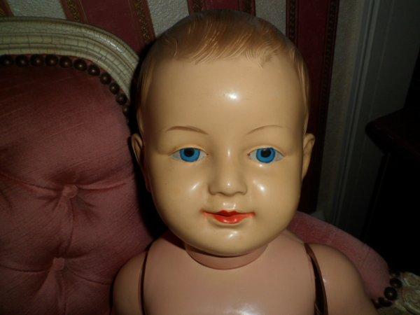 FRANCOIS, POUPON SNF 1930 64 centimètres LAITEUX yeux bleus