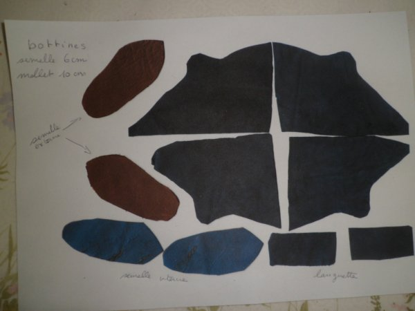 BOTTINES en cuir bleu 7 cm