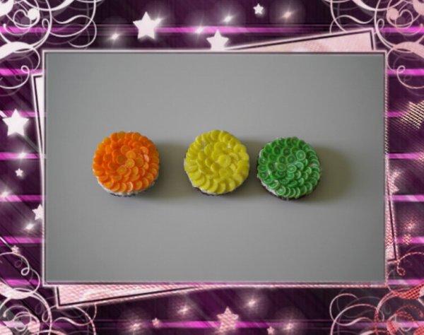Magnet Tarte au fruit               Ananas,Orange,Citron Vert