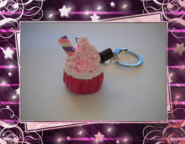 Porte clefs Cupcakes