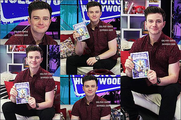 * 24/07/17 : Chris était invité sur le plateau de l'émission « Young Hollywood » - se trouvant dans Los Angeles Chris a donné une interview pour la promotion de son nouveau livre. Chris est très beau. J'aime beaucoup sa tenue, surtout sa chemise. Donc Top.  *