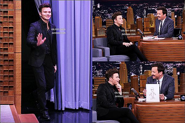* 26/06/17 : Chris C. était invité sur le plateau de l'émission, « The Tonight Show Starring Jimmy Fallon ».   Dommage qu'il y ait seulement que trois photos. Chris est vraiment beau. Je suis fan de la tenue qu'il porte, ça lui va bien - C'est un Top pour moi !  *