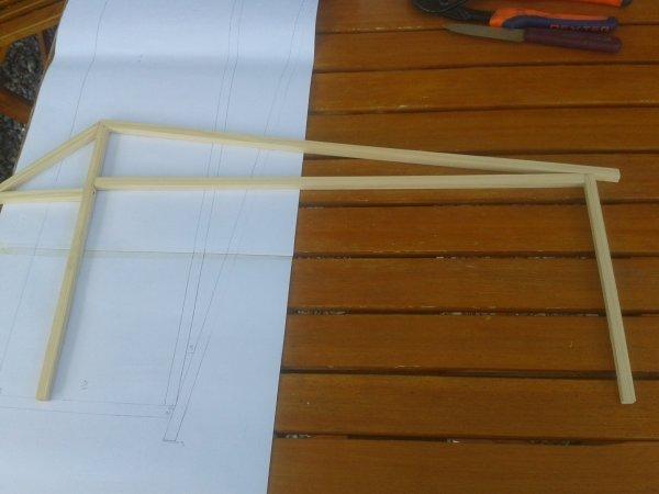 Charpente Pour batiment 1 : 4¤ piece et avec le muré 5¤ piece