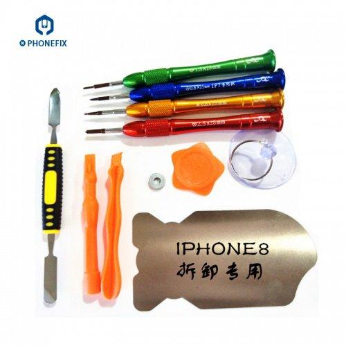 Hot selling VIPFIX Customized Iphone 7 8 8 Plus Screwdriver 11pcs Opening Tools Kit