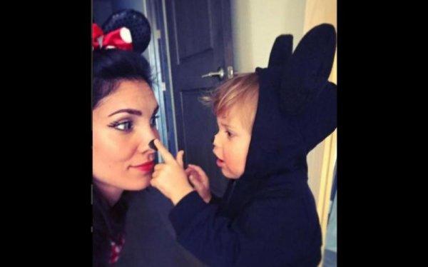 Daniela Ruah et son fils River Olsen