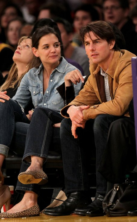 tomkate au lakers game