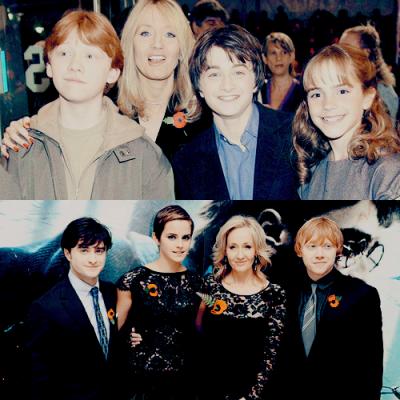 Harry Potter - saga créée par J.K. Rowling (1997) Ma saga préférée, d'entre toutes. Celle qui me fait rêver, malgré mon appréhension du début. Oui, parce que je fais partie de ces rares personnes qui n'aimaient pas Harry Potter. Pour ma part, une fois les livres lus, je ne pouvais plus décrocher. La magie est toujours présente. Et c'est ça qui fait tout. They are my HEROES (yes, I have many heroes and what ?)