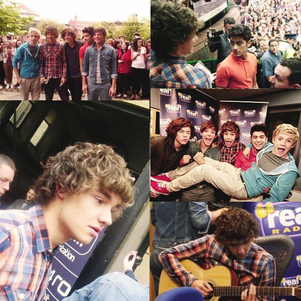 . __._16._ ___.o8_.____Les One Direction étaient à Manchester! Ils ont commencé leur tournée des radios par la radio Key 103 où ils ont chanté le refrain de WMYB en acoustique avec Niall à la guitare. Le teaser 3 (3 days to go) est aujourd'hui présenté par Liam!  . .