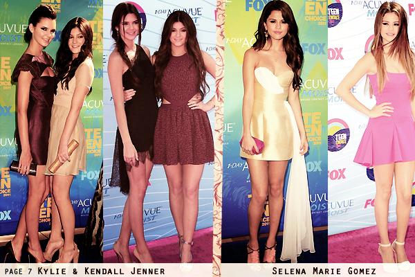 Article n°3, 2011 VS 2012: Teen Choice Award the red carpet - Posté par Audrey, le 24 janvier 2013  Plutôt 2011 ou 2012 ? En quelle année était le mieux habillée ta star préférée ? DesTOP/ FLOP ? ( tapis bleu: 2011 ; tapis violet: 2012)