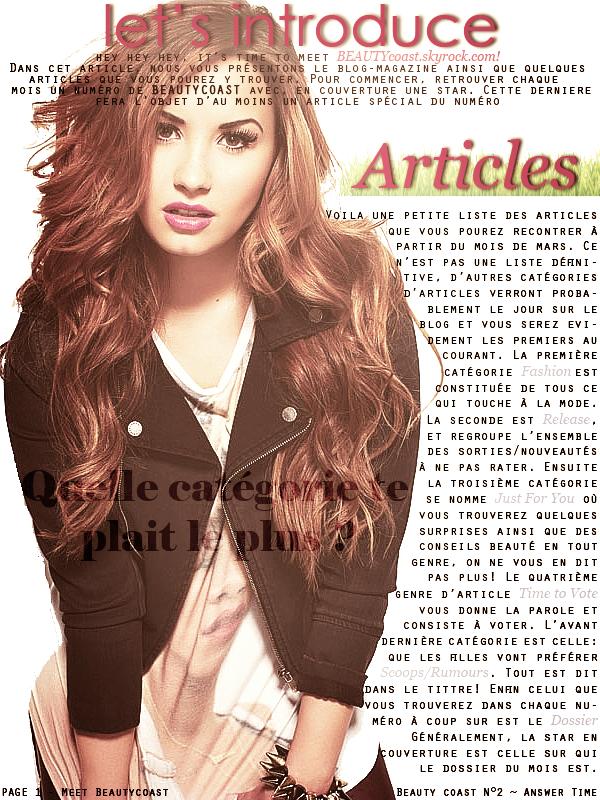 Article n°1, Meet BEAUTYcoast ! - Posté par Audrey, le 19 février 2013   Voilà le fonctionnement et le concept du blog résumé ci - dessous ! Si vous avez d'autres questions, n'hésitez pas par commentaires !