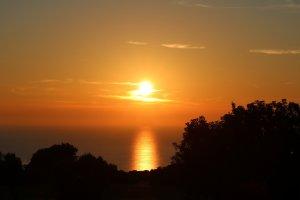 La beauté du coucher de soleil