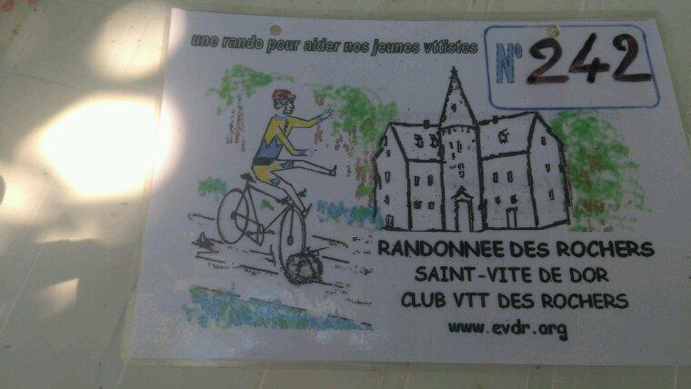 Randonnée du club des rochers a Saint-Vite