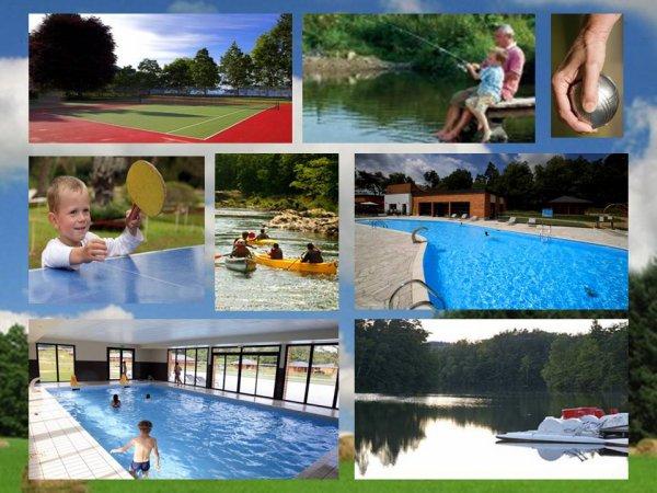 Spa saunas hammam SPA, piscine couverte et chauffée, étang de pêche. Aux portes de la Dordogne et de la Corrèze, le domaine LES COTTAGE S DU BIEN ETRE