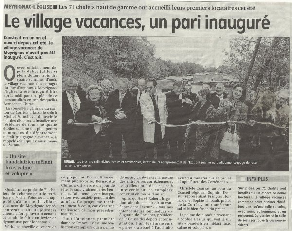 INAUGURATION OFFICIELLE 29 0CTOBRE 2011