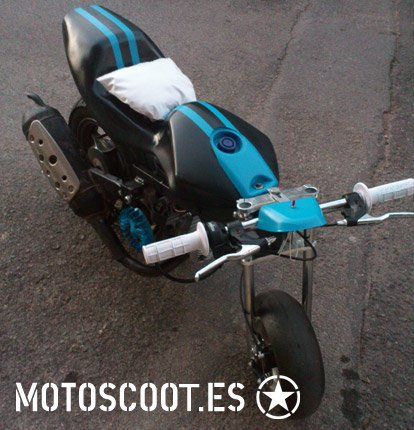 photo du jour : pocket bike avec moteur de scoot :)