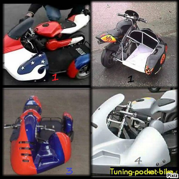 vous choisiriez le quelle side car pocket ?!!!