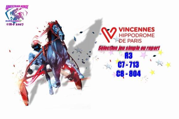 le 21/08 Vincennes jeu simple ou report R3