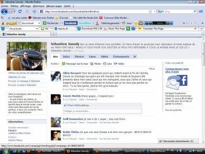 """Voila mon FaceBook; """"un Face Book qui a étais vue par le peuple plus de 150 a 200 foix par jour"""""""