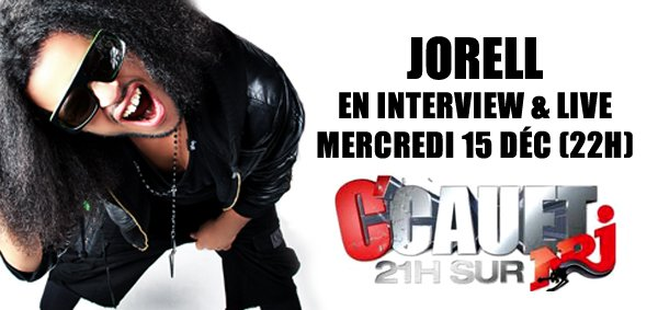 JORELL en INTERVIEW & LIVE sur NRJ avec CAUET