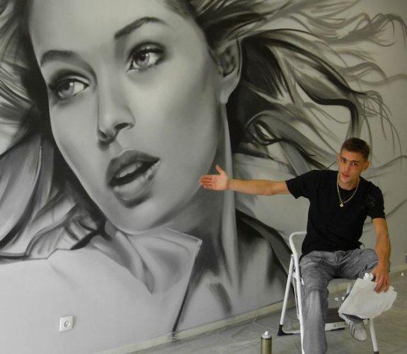 RealSpray :: Décoration Fresque Graffiti Toile