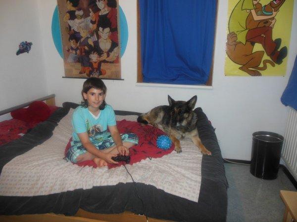 mon petit ange et ma chienne