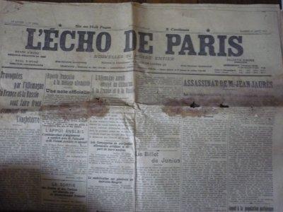Des journaux historiques!