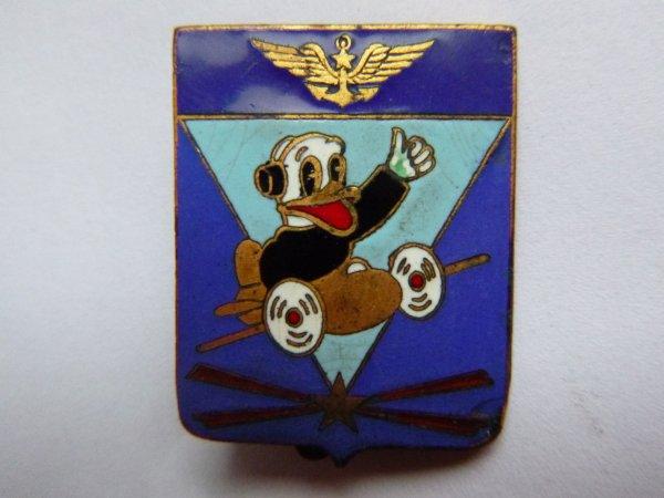 Insigne de la base aéronavale escadrille 55S basée à Agadir au Maroc dans les années 50' 60'.