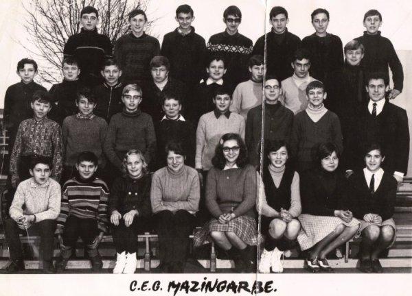 Art 1395 : Classe de 3ème en 1969