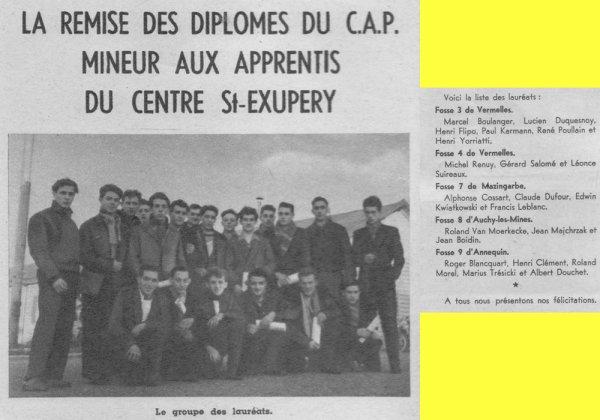 Art 1421 : La remise des diplômes du CAP .... en 1957